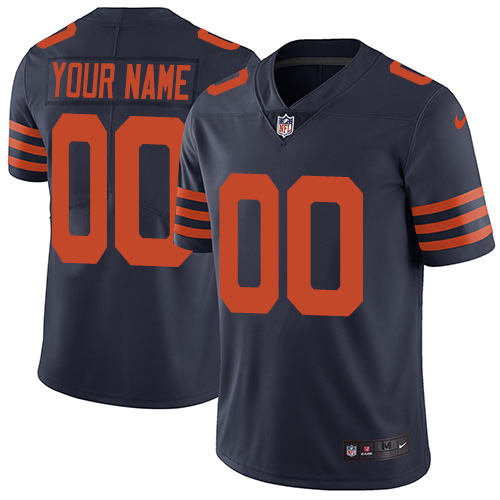 Youth Nike Chicago Bears Customized Navy Blue Alternate Vapor Untouchable Custom Limited NFL Jersey