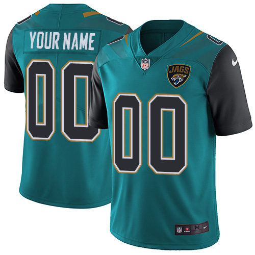 Youth Nike Jacksonville Jaguars Customized Teal Green Team Color Vapor Untouchable Custom Limited NFL Jersey