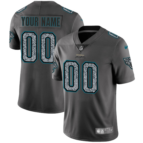Youth Nike Jacksonville Jaguars Customized Gray Static Vapor Untouchable Limited NFL Jersey