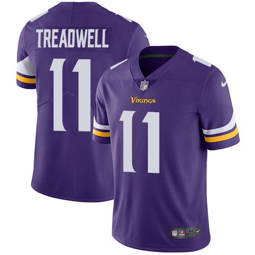 Men's Nike Minnesota Vikings #11 Laquon Treadwell Purple Team Color Vapor Untouchable Limited Player NFL Jersey