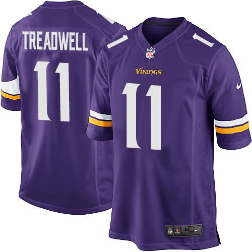 Men's Nike Minnesota Vikings #11 Laquon Treadwell Game Purple Team Color NFL Jersey
