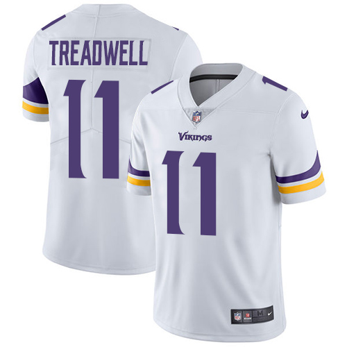 Men's Nike Minnesota Vikings #11 Laquon Treadwell White Vapor Untouchable Limited Player NFL Jersey