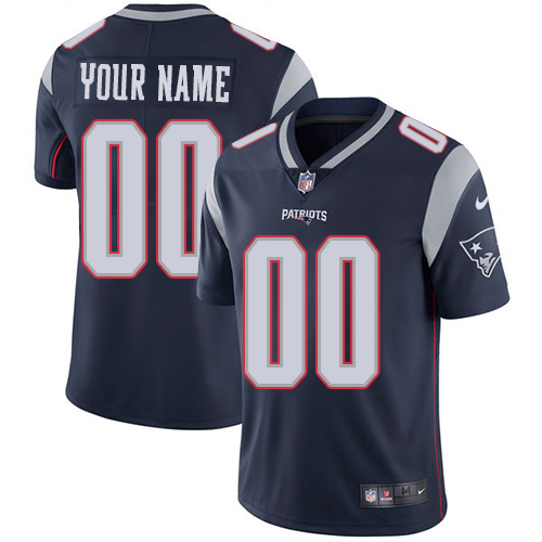 Men's Nike New England Patriots Customized Navy Blue Team Color Vapor Untouchable Custom Limited NFL Jersey