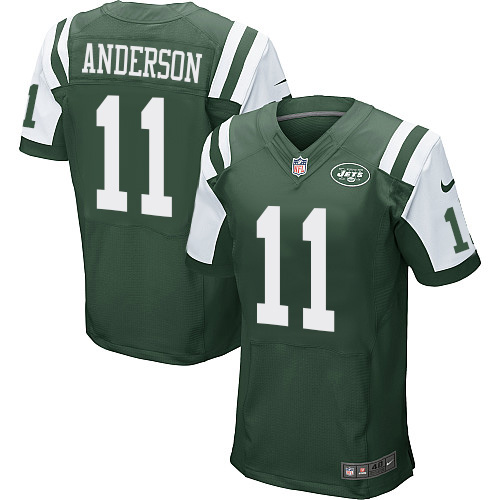 Men's Nike New York Jets #11 Robby Anderson Green Team Color Vapor Untouchable Elite Player NFL Jersey