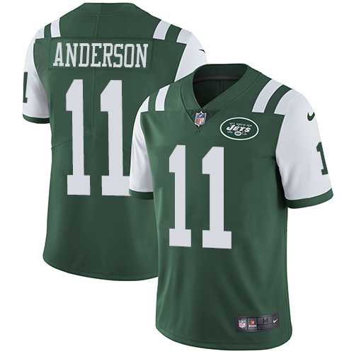Men's Nike New York Jets #11 Robby Anderson Green Team Color Vapor Untouchable Limited Player NFL Jersey