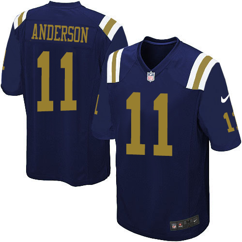 Men's Nike New York Jets #11 Robby Anderson Game Navy Blue Alternate NFL Jersey