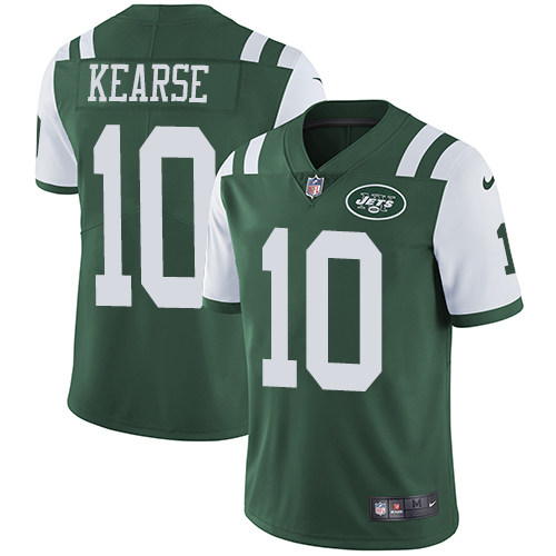 Men's Nike New York Jets #10 Jermaine Kearse Green Team Color Vapor Untouchable Limited Player NFL Jersey