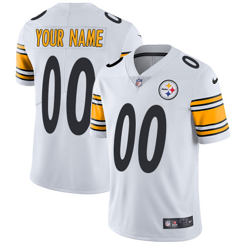 Youth Nike Pittsburgh Steelers Customized White Vapor Untouchable Custom Limited NFL Jersey