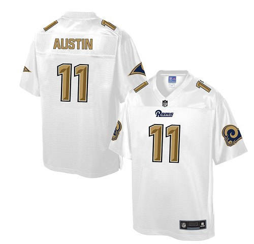 Men's Nike Los Angeles Rams #11 Tavon Austin Game White Pro Line Fashion NFL Jersey