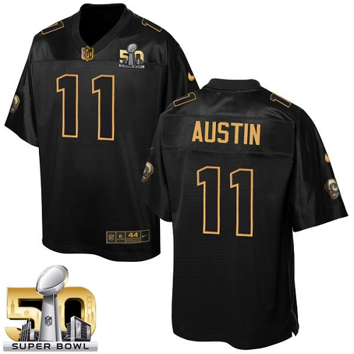 Men's Nike Los Angeles Rams #11 Tavon Austin Elite Black Pro Line Gold Collection NFL Jersey