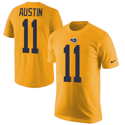 Men's Nike Los Angeles Rams #11 Tavon Austin Gold Rush Pride Name & Number T-Shirt