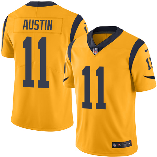 Men's Nike Los Angeles Rams #11 Tavon Austin Limited Gold Rush Vapor Untouchable NFL Jersey